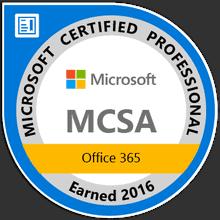 Microsoft exam badge